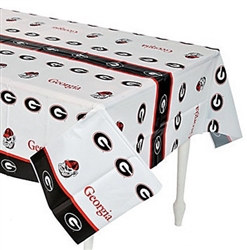 University of Georgia Plastic Tablecover