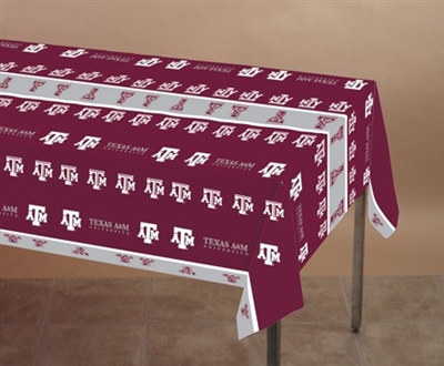 Texas A & M Plastic Tablecover