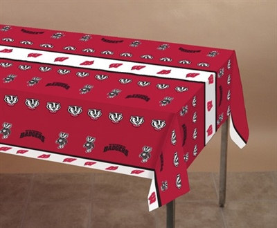 University of Wisconsin Plastic Tablecover