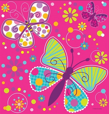 Butterfly Birthday Tablecover