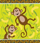 Monkeyin' Around Plastic Tablecover