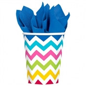 Multi-Color Chevron Hot/Cold Cups (18/pkg)