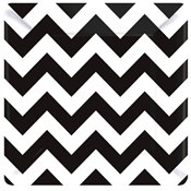 Black and White Chevron Dessert Plates (18/pkg)
