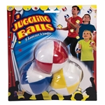 The Juggling Balls will provide entertainment for your next carnival or circus theme party. Each package comes with instructional diagrams, making them perfect for beginners. Three assorted color, weighted balls per package.