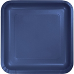 Eighteen 6 7/8 by 6 7/8 inch paper plates comer per package and are great for appetizers and deserts.
