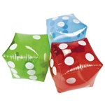Assorted Inflatable Transparent Dice (1/pkg)