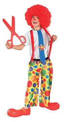 Child Dotted Clown Costume (Large)