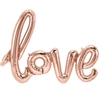 "The Love Script Balloon 30"" - Rose Gold measures 30 inches by 22 inches when inflated. Each package contains one (1) foil balloon, one 7 foot long ribbon, and an inflation straw. Easy self seal. No returns. Do not over inflate."