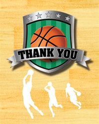 Basketball Party Thank You Cards