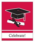 Red Congrats Grad Invitations