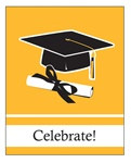 Yellow Congrats Grad Invitations