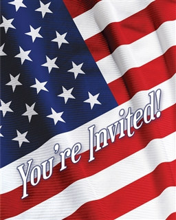 Patriotic Invitations (8/pkg)