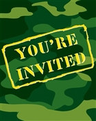 Camo Party Invitations (8/pkg)