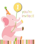 Girl Sweet At One Invitations (8/pkg)