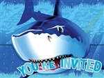 Shark Party Invitations (8/pkg)