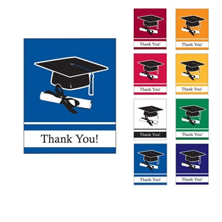 School Colors Grad Thank You Cards