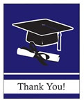 Purple Congrats Grad Thank You Cards (25/pkg)