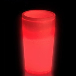 Red Glow Light Up Shot Glass (1.5 oz)