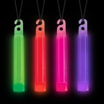 Assorted Neon Glow Sticks (4/pkg)