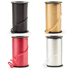 The Curling Ribbon (Select Color)  is 500 yards on each spool, available in various solid colors. 3/16 crimped ribbon is perfect for balloons, gifts, and other decorating accents. One spool per package.