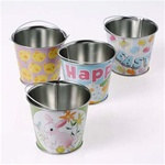 Assorted Mini Metal Easter Buckets (1/pkg)