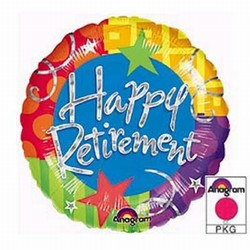 Happy Retirement Prismatic Mylar Balloon