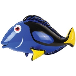 Incorporate this brightly colored, inflatable Blue Tang Fish at your Under the Sea or nautical themed party. When fully inflated, this vinyl  party decoration will measure 27 inches. Not eligible for returns.