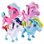 The 27 inch Inflatable Pony makes a great accessory to your princess party decorations. Assorted pastel colors decorate these adorable magical looking ponies. Sold 1 pony per package.