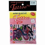 Show your wild side and sport one of these Tattoo Sleeves. Each package will contain one sleeve, which comes in assorted designs ranging from spiders, solid lines, to playing card inspired designs. Made of a soft fabric material, one size fits most.