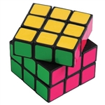 The Neon Puzzle Cube is a vibrant game and measures 2 inches by 2 inches. Sold one (1) per package. For ages 3 and Up.