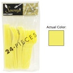Yellow Assorted Plastic Cutlery (24/pkg)