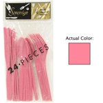 Hot Pink Assorted Plastic Cutlery (24/pkg)