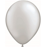 These lovely silver latex balloons measure 11 inches when inflated. Perfect for placing around the party or combining with other balloons to make a colorful statement. Contains 25 balloons per package.