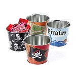 Assorted Mini Metal Pirate Buckets (1/pkg)