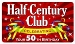 Half Century Club Plastic Pocket Card