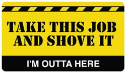 Take This Job and Shove It Plastic Pocket Card (1/Pkg)