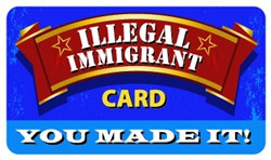 Illegal Immigrant Plastic Pocket Card (1/Pkg)