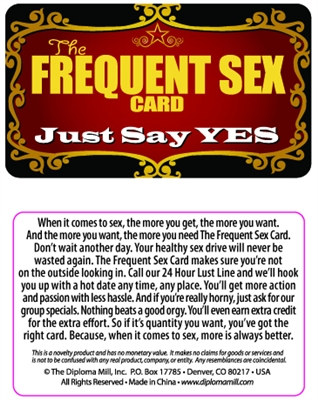 The Frequent Sex Card Pocket Cards
