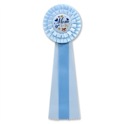 Blue Mom To Be Deluxe Rosette Ribbon