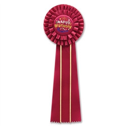 Happy Birthday Deluxe Rosette Ribbon