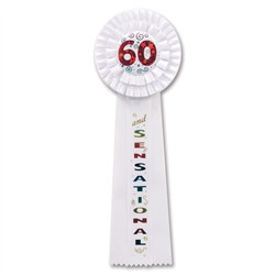 60 and Sensational Deluxe Rosette Ribbon