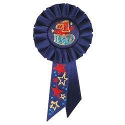 #1 Dad Rosette Ribbon