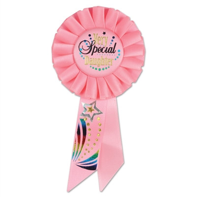 Very Special Daughter Rosette Ribbon