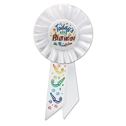 Today's My Birthday Rosette Ribbon