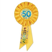 50 and Fabulous Rosette Ribbon