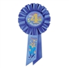 Blue My 4th Birthday Rosette Ribbon