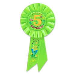 Your young guest of honor will love this bright green ribbon.  Makes a great keepsake and is perfect for scrapbooking.