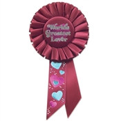 World's Greatest Lover Rosette Ribbon