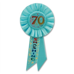 70 and Smashing Rosette Ribbon
