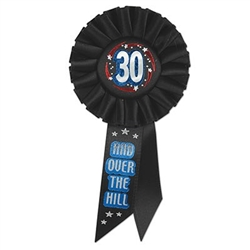 30 and Over The Hill Rosette Ribbon